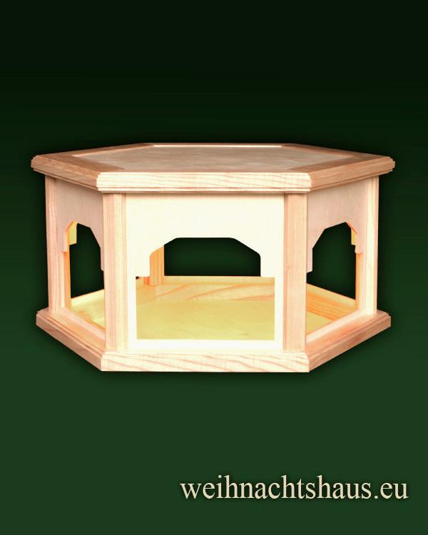 Seiffen Weihnachtshaus - Weihnachtspyramiden- Tisch beleuchtet Höhe 30cm - Bild 1