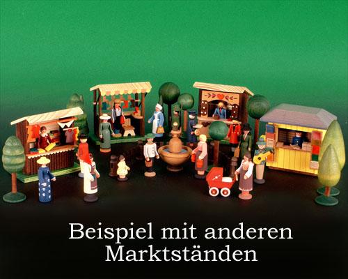 Seiffen Weihnachtshaus - Sommermarkt Pfefferkuchenstand 6 tlg - Bild 2