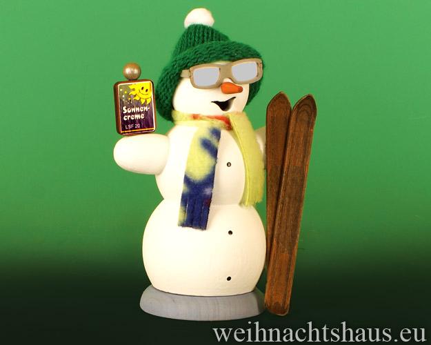 Seiffen Weihnachtshaus - <!--13-->Räuchermann Schneemann Apres Ski - Bild 1