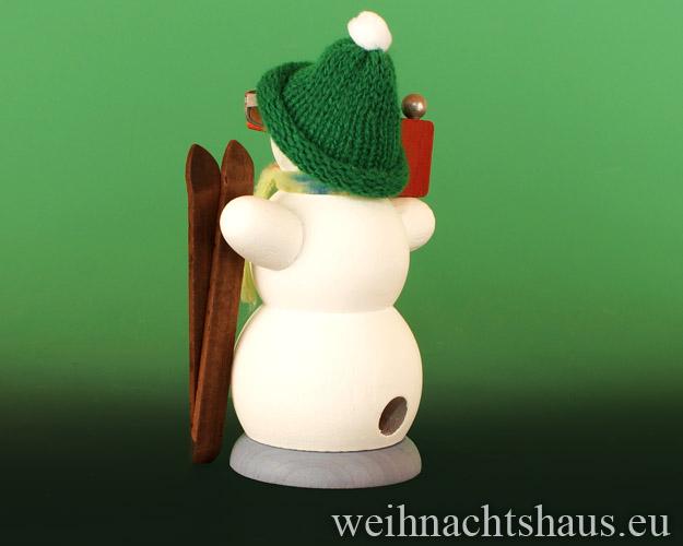Seiffen Weihnachtshaus - <!--13-->Räuchermann Schneemann Apres Ski - Bild 2