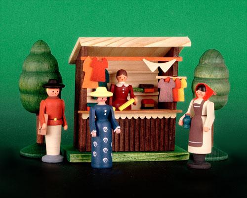Seiffen Weihnachtshaus - Sommermarkt Kleiderstand 6 tlg - Bild 1