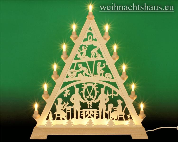 Seiffen Weihnachtshaus - Tannenspitze 16 Kerzen Erzgebirge 57 cm - Bild 1