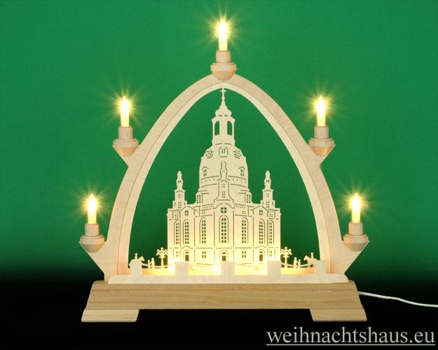 Seiffen Weihnachtshaus - Gotische Spitze 8 Kerzen Frauenkirche 40 cm - Bild 1