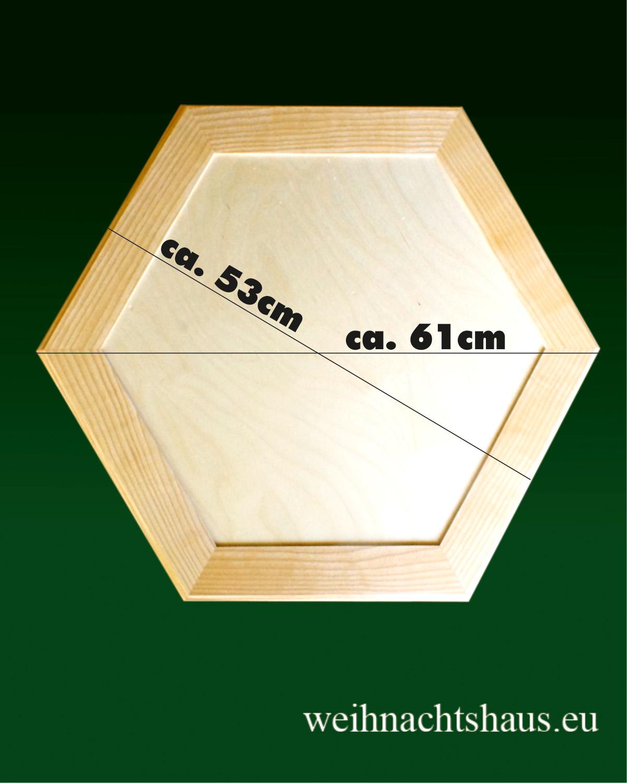 Seiffen Weihnachtshaus - Weihnachtspyramiden- Tisch beleuchtet Höhe 40cm - Bild 2