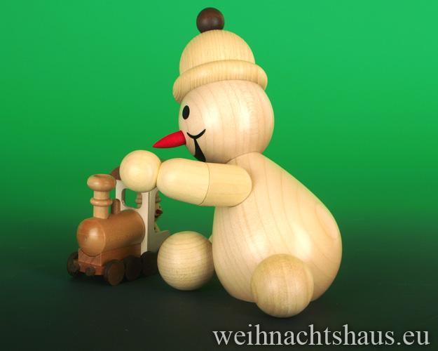 Seiffen Weihnachtshaus - .      Kugelschneemann Junior mittelgroß mit Lock Neuheit 2020 - Bild 2