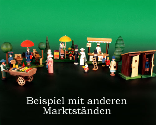 Seiffen Weihnachtshaus - Sommermarkt Blumen 6 tlg - Bild 2