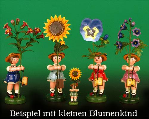 Seiffen Weihnachtshaus - Hubrig Sommerblumenkind Mädchen 24cm Stiefmütterchen Auslaufmodell - Bild 2