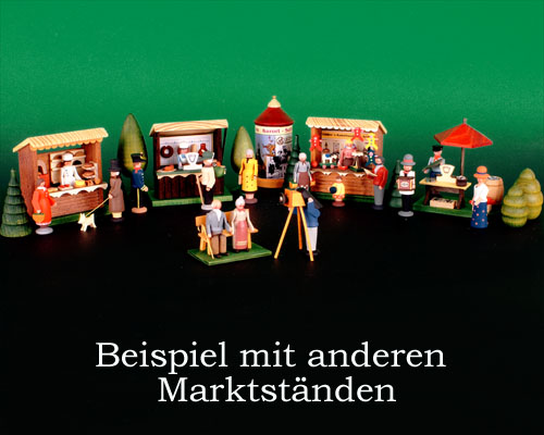 Seiffen Weihnachtshaus - Sommermarkt Bäckerstand 6 tlg. - Bild 2
