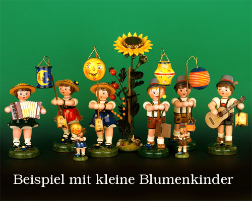 Seiffen Weihnachtshaus - Blumeninsel 24cm Sonnenblume - Bild 2
