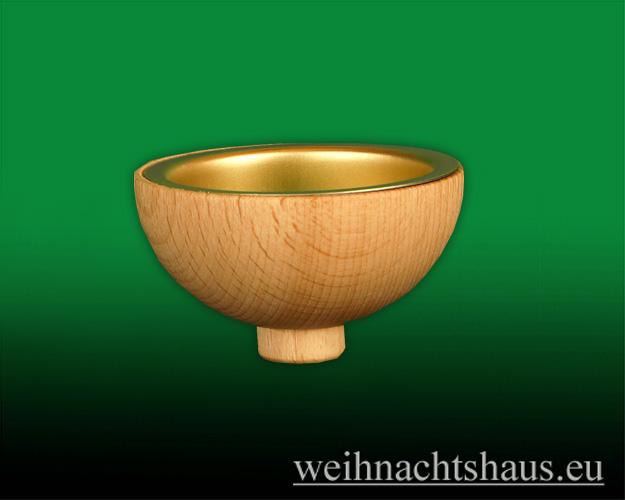 Seiffen Weihnachtshaus -  Teelichtadapter,Teelichtaufsatz Runde Ausführung mit Metalleinsatz - Bild 1