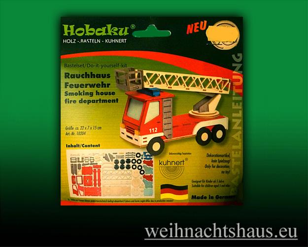 Seiffen Weihnachtshaus - Bastelsatz Erzgebirge Feuerwehr zum Basteln - Bild 1