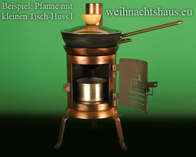 Seiffen Weihnachtshaus - Eisenpfanne mit Deckel für Räucherofen Huss - Bild 3