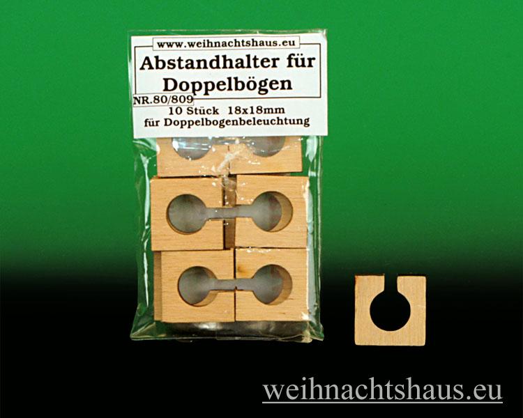 Seiffen Weihnachtshaus - Doppelschwibbogenbeleuchtung Abstandshalter - Bild 1