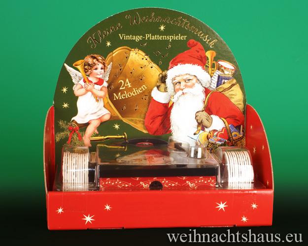 Adventskalender nostalgischer Plattenspieler Weihnachtsmelodien