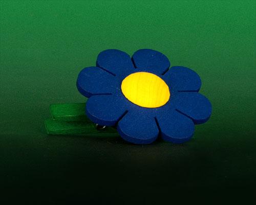 Seiffen Weihnachtshaus - Klammerblume klein blau - Bild 1