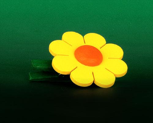 Seiffen Weihnachtshaus - Klammerblume klein gelb - Bild 1