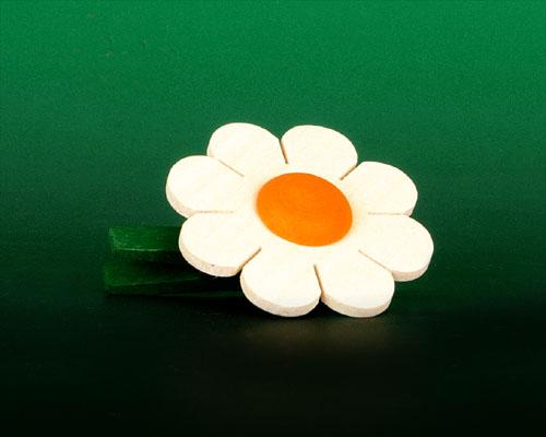 Seiffen Weihnachtshaus - Klammerblume klein weiß - Bild 1