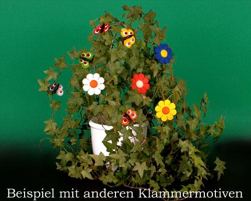 Seiffen Weihnachtshaus - Klammerschmetterling rot - Bild 2