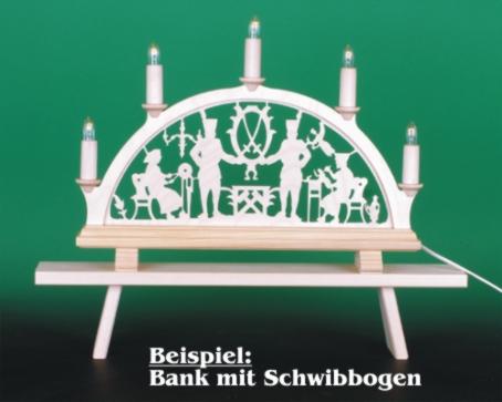 Seiffen Weihnachtshaus - Schwibbogenbank, Schwibbogenerhöhung  50 cm - Bild 2
