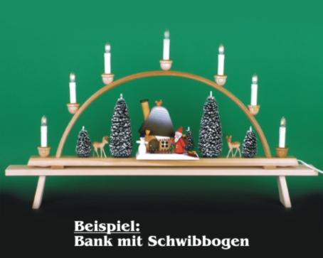 Seiffen Weihnachtshaus - Schwibbogenerhöhung Schwibbogenbank (Erhöhung) 80 cm - Bild 2