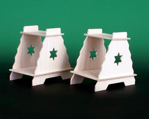 Seiffen Weihnachtshaus - Bank für Schwibbogen zum Zusammen-stecken - Bild 1