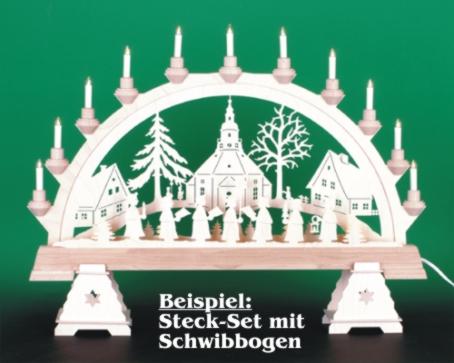 Seiffen Weihnachtshaus - Bank für Schwibbogen zum Zusammen-stecken - Bild 2