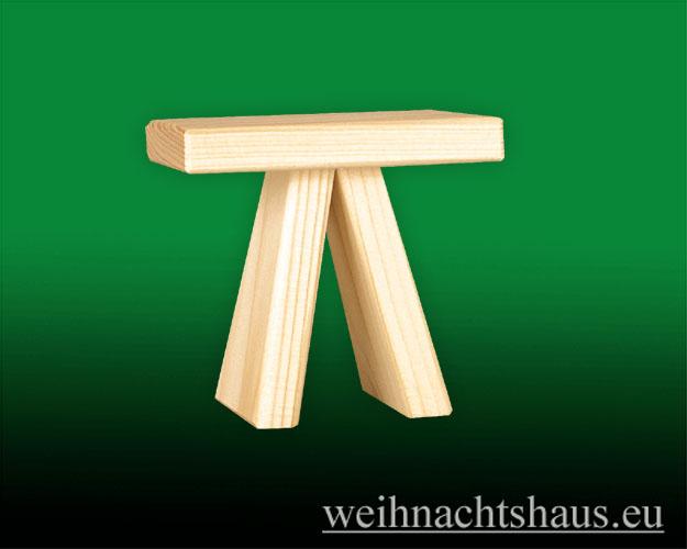 Seiffen Weihnachtshaus - Bank für sitzende Räuchermänner Kantenhocker 10 cm - Bild 1