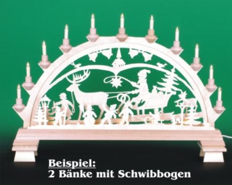 Seiffen Weihnachtshaus - Bank Kantenhocker oder Schwibbögen 4,5cm - Bild 3