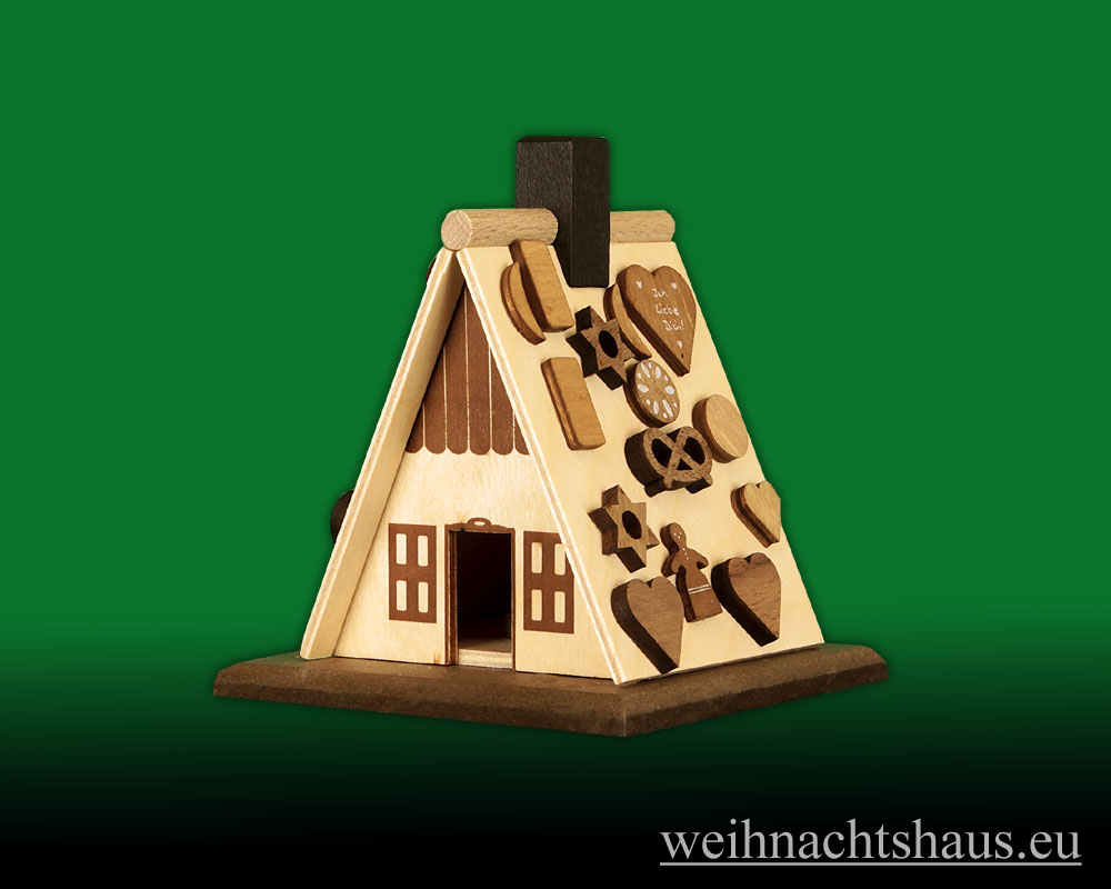 Seiffen Weihnachtshaus - Bastelsatz Erzgebirge Räucherhaus mit Pfefferkuchen - Bild 2