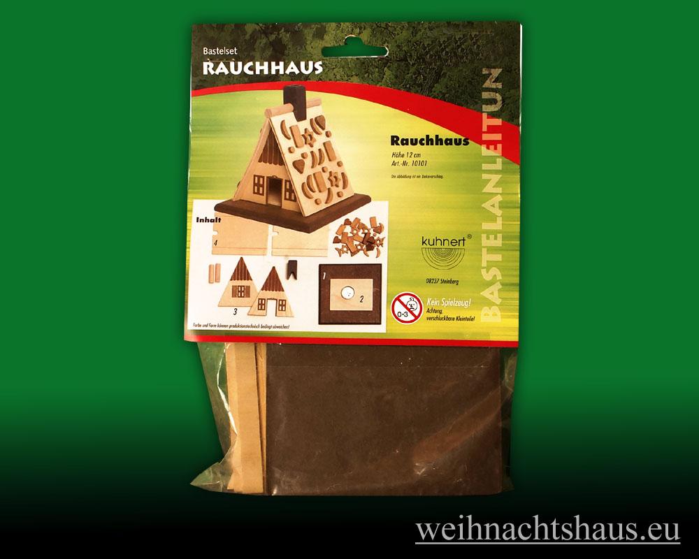 Seiffen Weihnachtshaus - Bastelsatz Erzgebirge Räucherhaus mit Pfefferkuchen - Bild 1