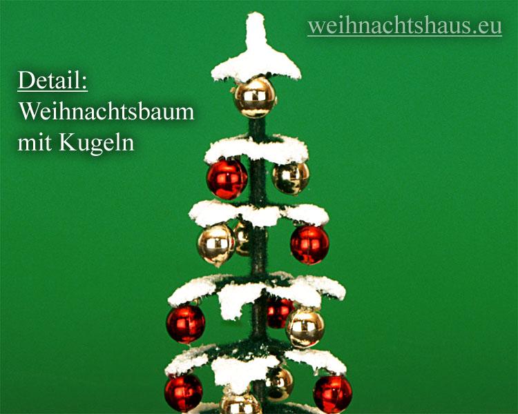 Seiffen Weihnachtshaus - Puppenstuben-Baum grün  elektrisch - Bild 2