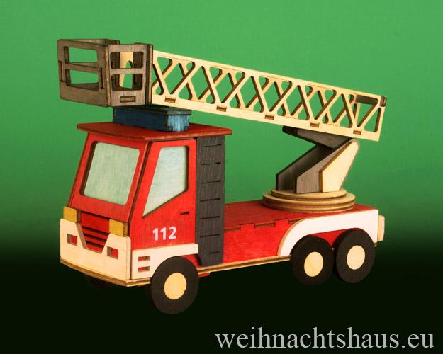 Seiffen Weihnachtshaus - Bastelsatz Erzgebirge Feuerwehr zum Basteln - Bild 2
