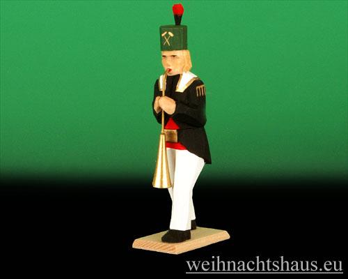 Seiffen Weihnachtshaus - Bergmann geschnitzt aus Holz mit Russischhorn - Bild 1