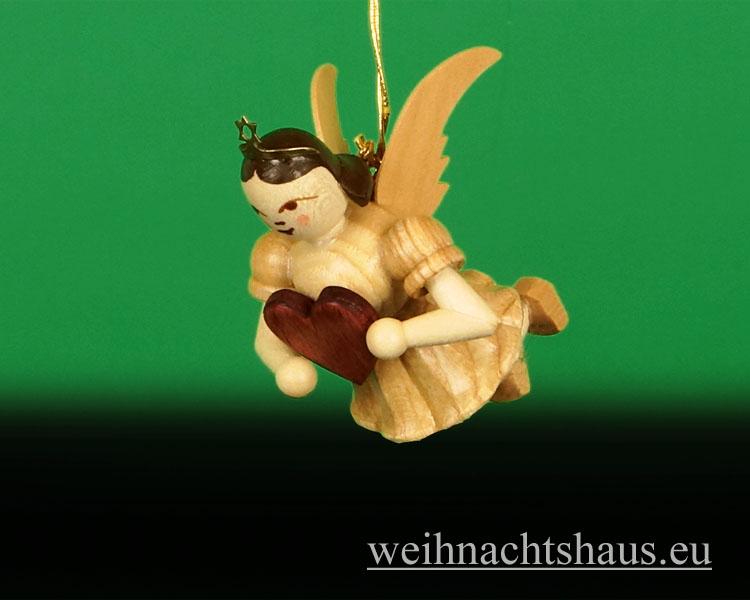 Seiffen Weihnachtshaus - Schwebeengel  natur Herz Neuheit Blank 2013 - Bild 1