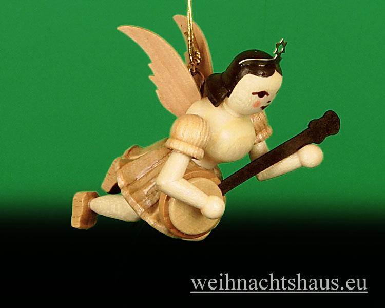 Seiffen Weihnachtshaus - Schwebeengel   natur Banjo Neuheit Blank 2014 - Bild 1