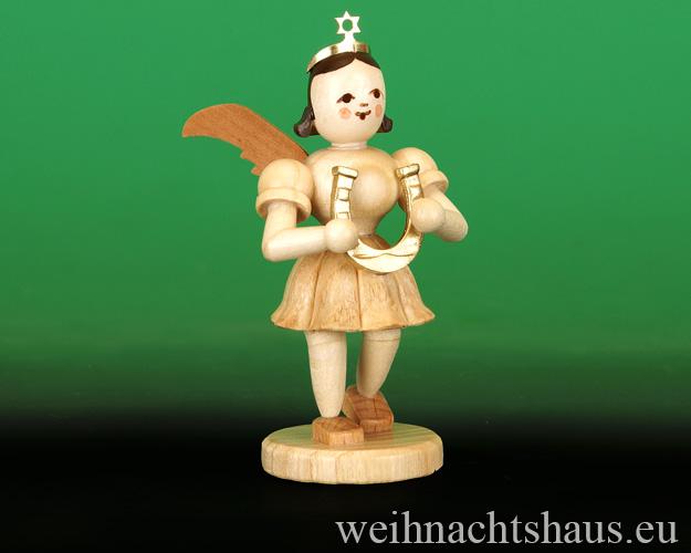 Seiffen Weihnachtshaus - Kurzrockengel  natur   Hufeisen Glücksbringer Blank Neuheit 2016 - Bild 1
