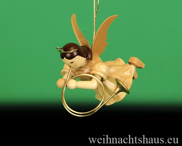 Seiffen Weihnachtshaus - Schwebeengel natur Althorn Blank - Bild 1