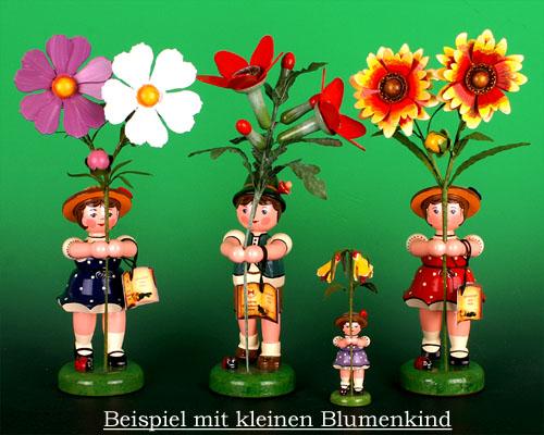 Seiffen Weihnachtshaus - Hubrig Blumenkind Mädchen 24cm Stockrose Neuheit 2014 - Bild 2