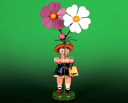 Seiffen Weihnachtshaus - Hubrig Blumenkind Mädchen 24cm Cosmea - Bild 1