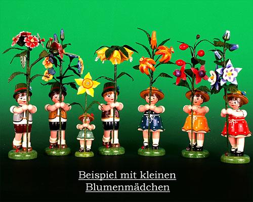Seiffen Weihnachtshaus - Sommerhutblumenkind Junge 17cm Buschnelke - Bild 2