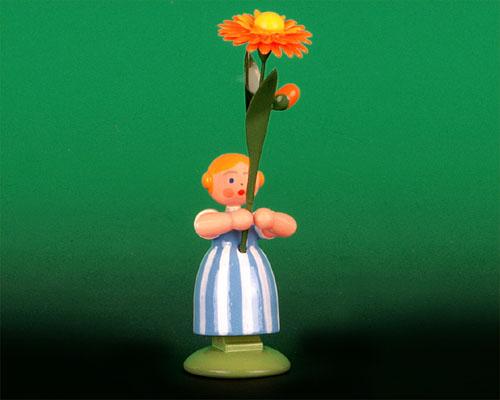 Seiffen Weihnachtshaus - Wiesenblumenkind 11cm Ringelblume - Bild 1