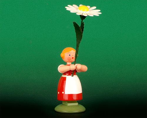Seiffen Weihnachtshaus - Wiesenblumenkind 11cm Margerite - Bild 1