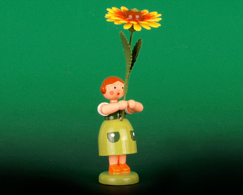 Seiffen Weihnachtshaus - Sommerblumenkind 12cm Kokardenblume - Bild 1