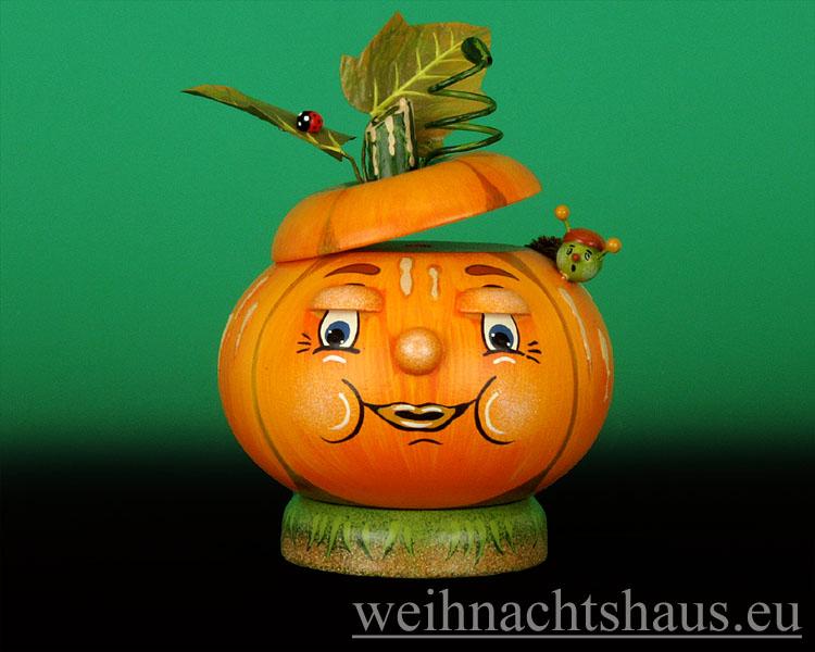 Seiffen Weihnachtshaus - <!--07-->Räucherfigur  Kürbis - Bild 1