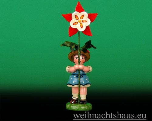 Seiffen Weihnachtshaus - Sommerhutblumenmädchen 11 cm Akelei/ NEU 2012 - Bild 1