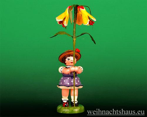 Seiffen Weihnachtshaus - Sommerhutblumenmädchen 11 cm Schönmalve - Bild 1