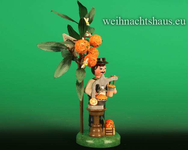 Seiffen Weihnachtshaus -  .2021  Jahresfigur  Hubrig  Orange Orangenbaum - Bild 2
