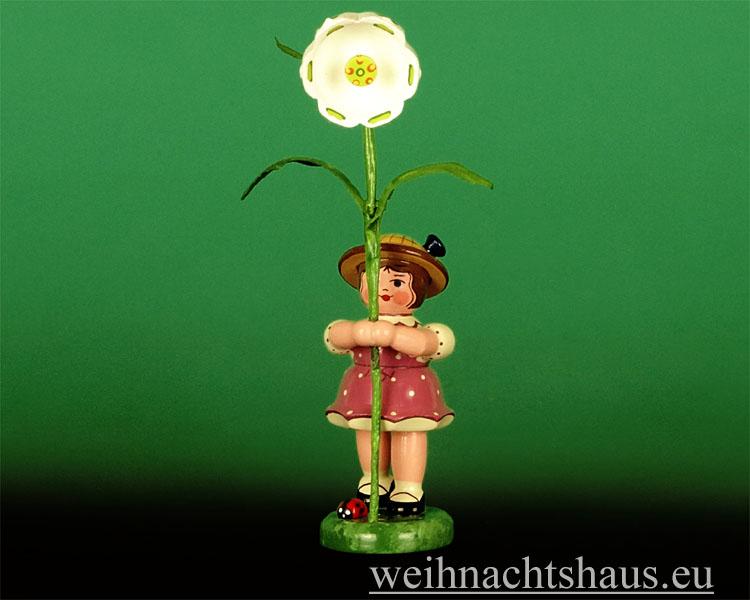 Seiffen Weihnachtshaus - Sommerhutblumenmädchen 11 cm Märzenbecher NEU 2014 - Bild 1