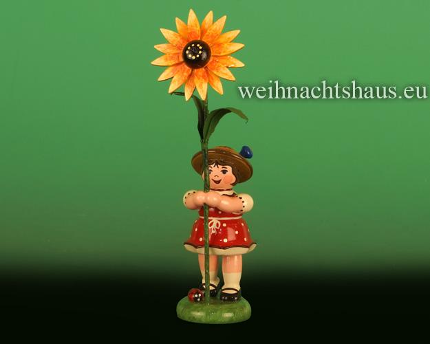 Seiffen Weihnachtshaus - Sommerhutblumenmädchen 11 cm Sonnenhut NEU 2018 - Bild 1