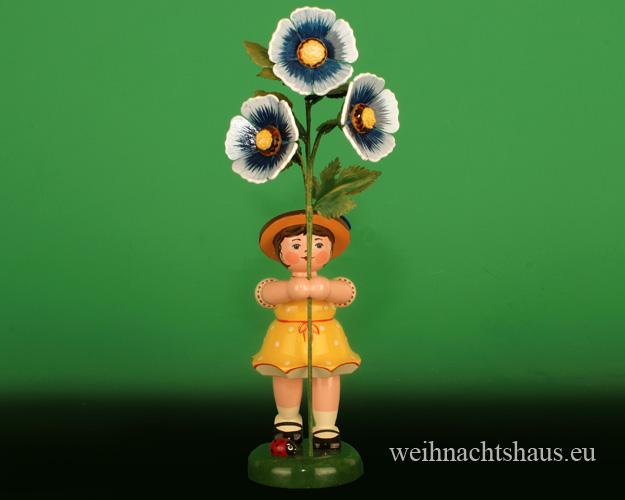 Seiffen Weihnachtshaus - Hubrig Blumenkind Mädchen 24cm Malve NEU 2020 - Bild 1